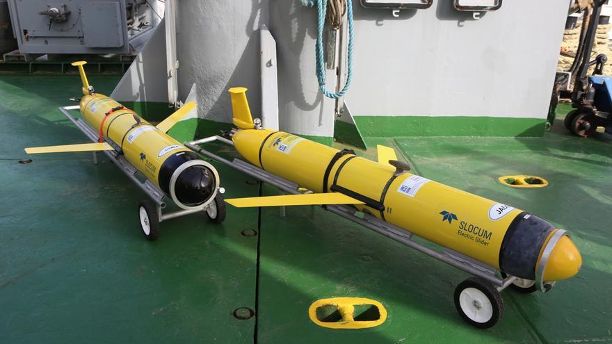 Gliders en el buque 'Alliance' (ALEJANDRO RAMOS)