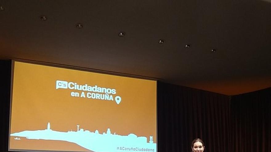 Rivera de la Cruz, en el mitin de A Coruña