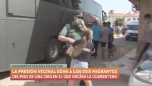 Seis migrantes argelinos en cuarentena, expulsados de un pueblo de Murcia entre insultos racistas de los vecinos