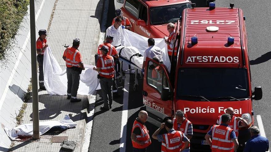 Dos motoristas mueren en la Autovía del Camino, en Zizur (Navarra)