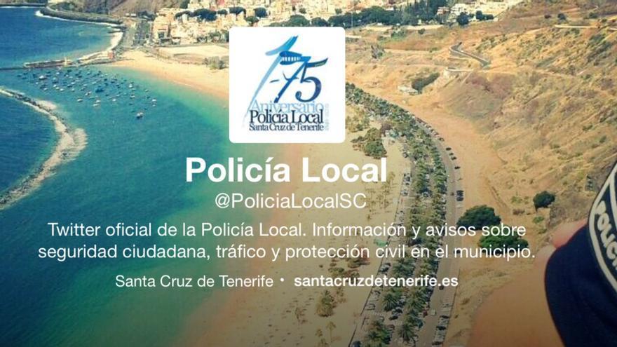 Imagen del perfil de Twitter de la Policía Local