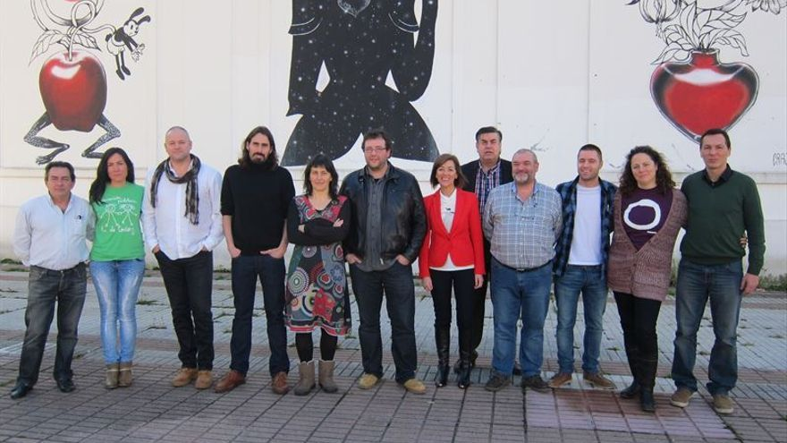 Miembros de la lista 'Sí Se Puede Cantabria' que encabeza el abogado Juanma Brun.