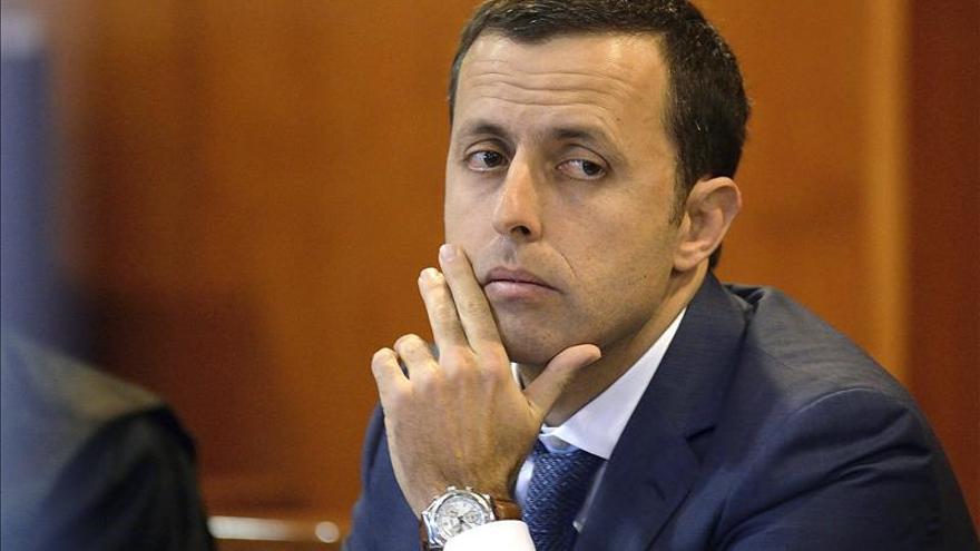 El magistrado Luis Acayro Sánchez durante el juicio. |