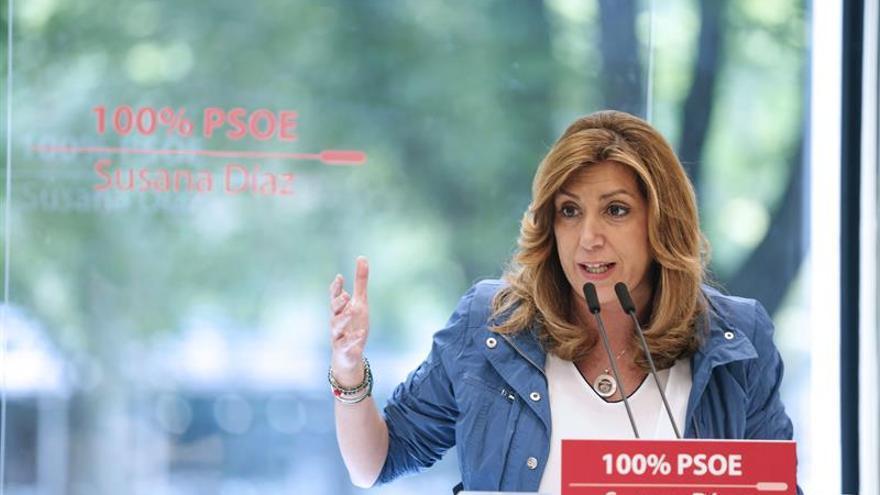 """Díaz pide un partido """"100% PSOE, sin complejos ni asumir postulados de otros"""""""