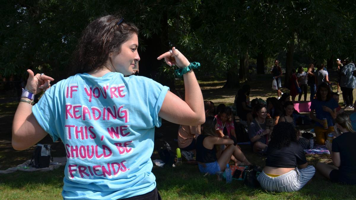 Marissa Meizz en el evento de No More Lonely Friends en Central Park