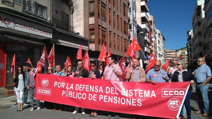 Manifestación de pensionistas en Cuenca