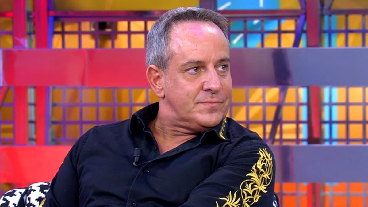 Víctor Sandoval, en el plató de 'Sálvame'