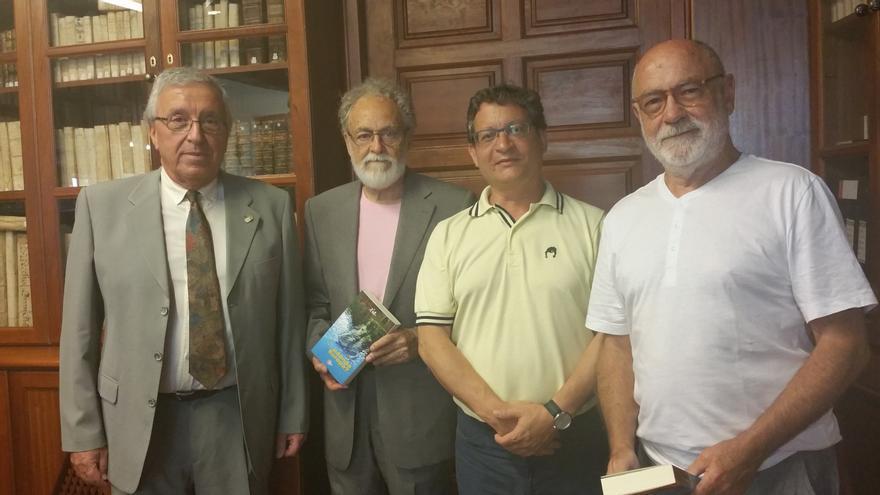 Carlos Lugo (i), Facundo Fierro, Ignacio Pastor y Jorge Lozano. Foto: LUZ RODRÍGUEZ.