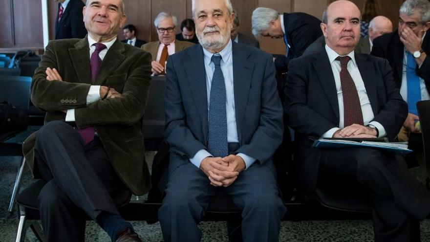 Manuel Chaves, José Antonio Griñán y Gaspar Zarrías