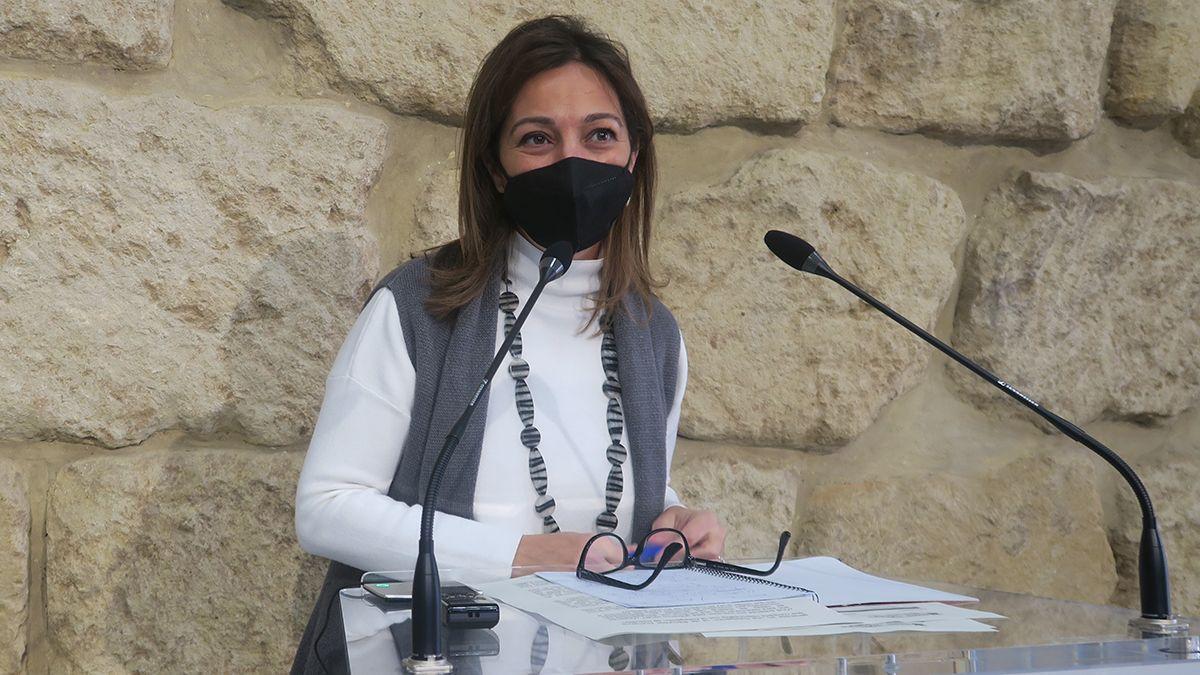 La portavoz del PSOE en el Ayuntamiento, Isabel Ambrosio.