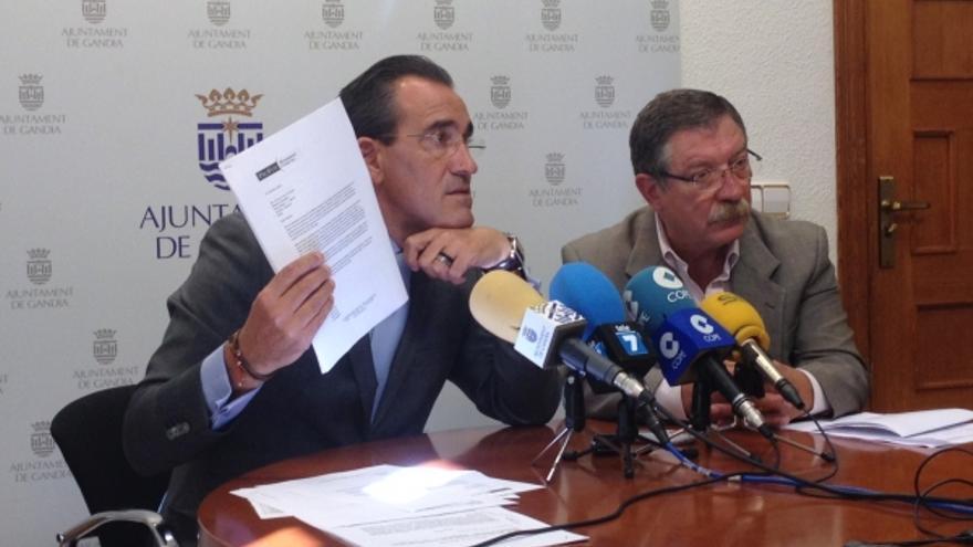 Arturo Torró, en una rueda de prensa en el Ayuntamiento de Gandia.