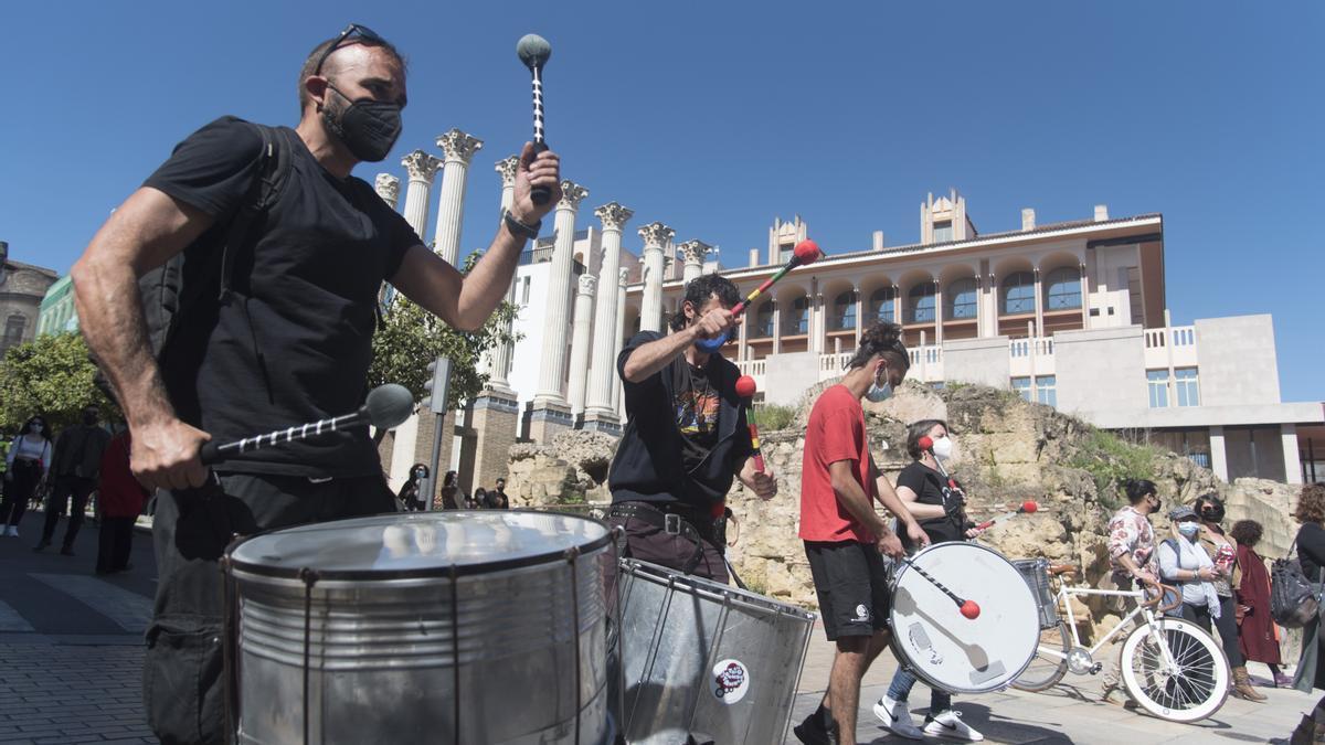Protesta MUTE sector cultural.