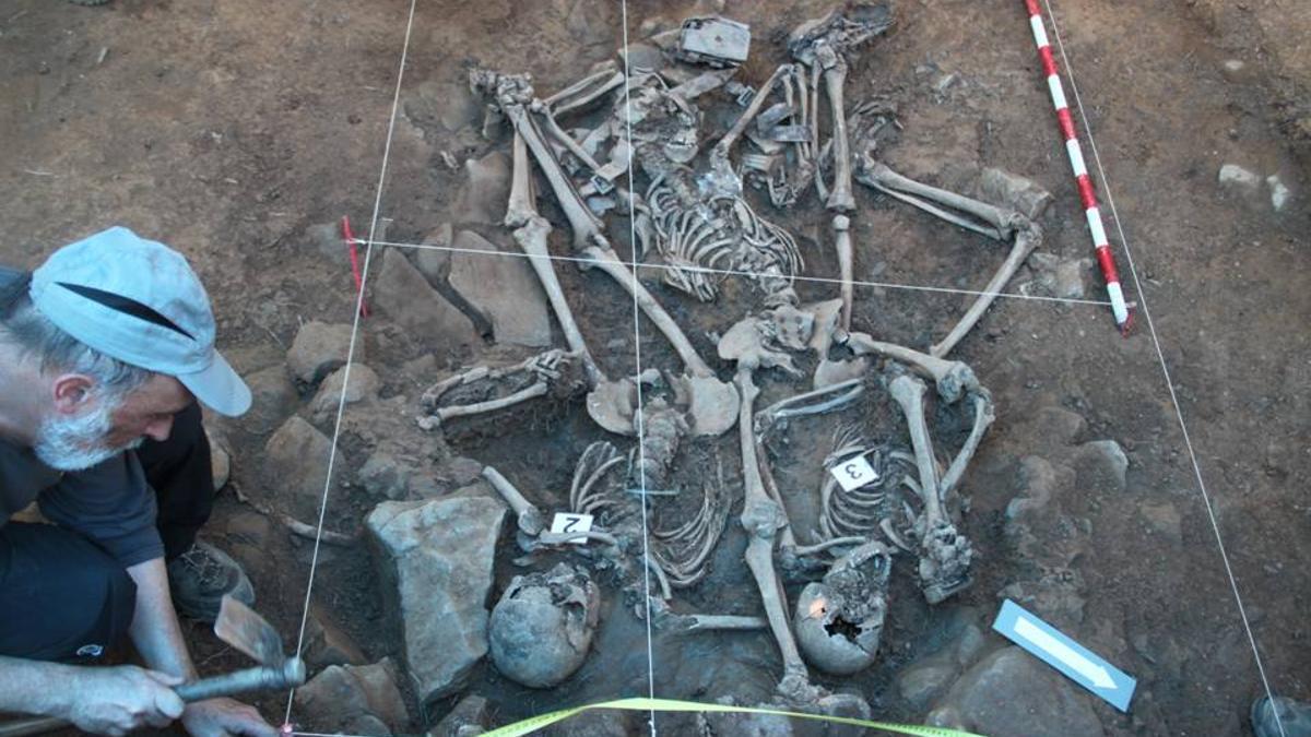 Fosa de San Antolín, en Bizkaia, donde se encontraron los cuerpos de tres víctimas, todas ellas sin identificar