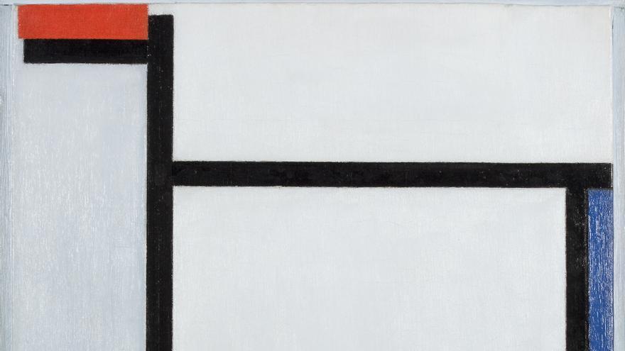 'Composición con rojo, azul, negro, amarillo y gris' de Piet Mondrian. 1921. Kunstmuseum Den Haag.