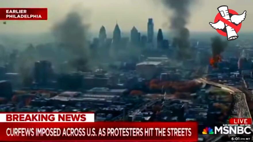 No, la TV estadounidense no está usando imágenes de 'Guerra Mundial Z' para ilustrar las protestas en Filadelfia