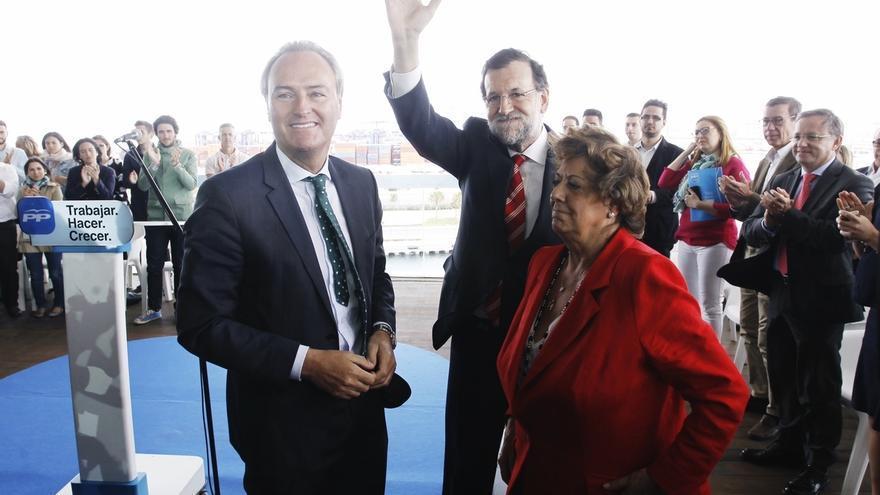 """Rajoy ve """"justo"""" reconocer a Fabra las medidas adoptadas """"en el peor momento"""" y alaba la """"excelente gestión"""" de Barberá"""
