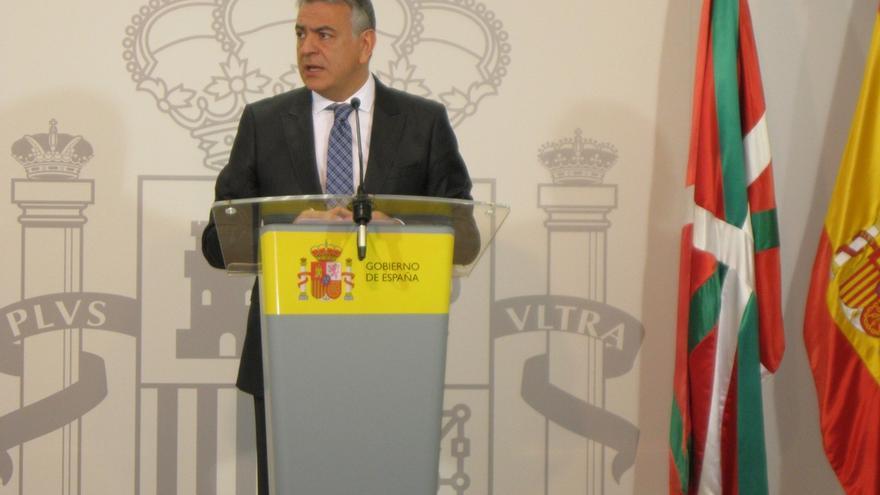 """El delegado del Gobierno en Euskadi cree que ETA ha entregado """"la mitad de todo el arsenal de robo de pistolas"""""""