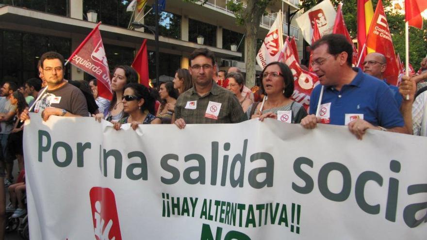 Manifestación de Izquierda Unida en Toledo