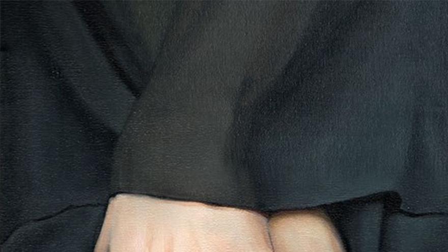 Obra que representa una manos unidas. (Fernando Oliver).