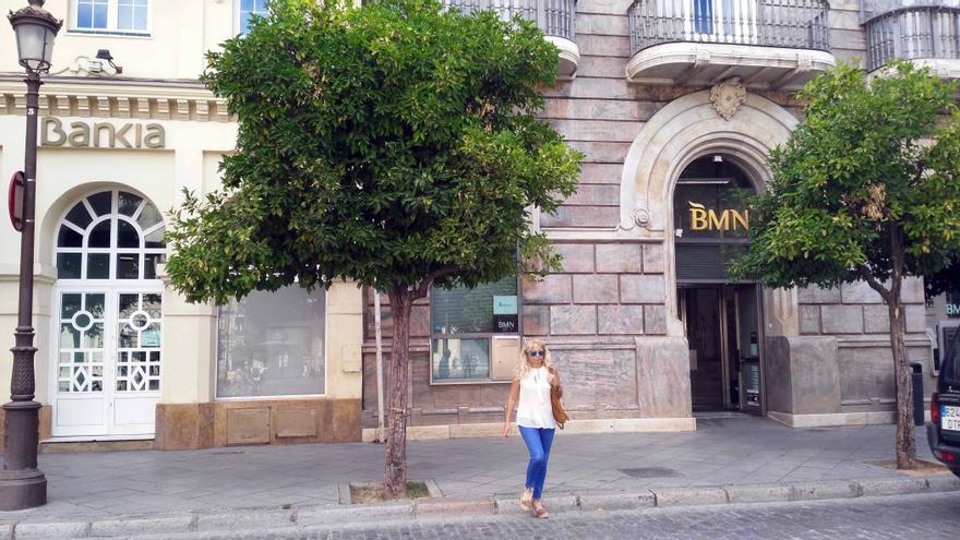 Sedes de Bankia y BMN en la Plaza de San Francisco de Sevilla