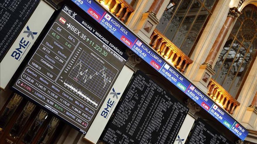 La bolsa española sube el 0,9 % y continúa bajo el nivel de los 11.000 puntos