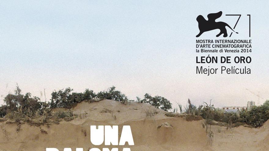 Cartel de la última película de Roy Andersson, 'Una paloma se posó en una rama a reflexionar sobre la existencia'