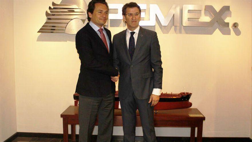 El expresidente de Pemex y Alberto Núñez Feijóo, en una imagen de archivo