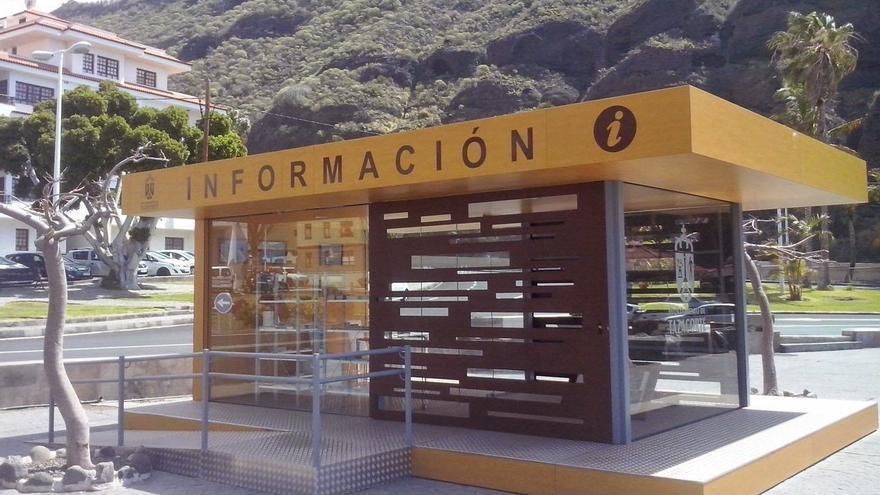 En la imagen, la oficina de información inaugurada este lunes.