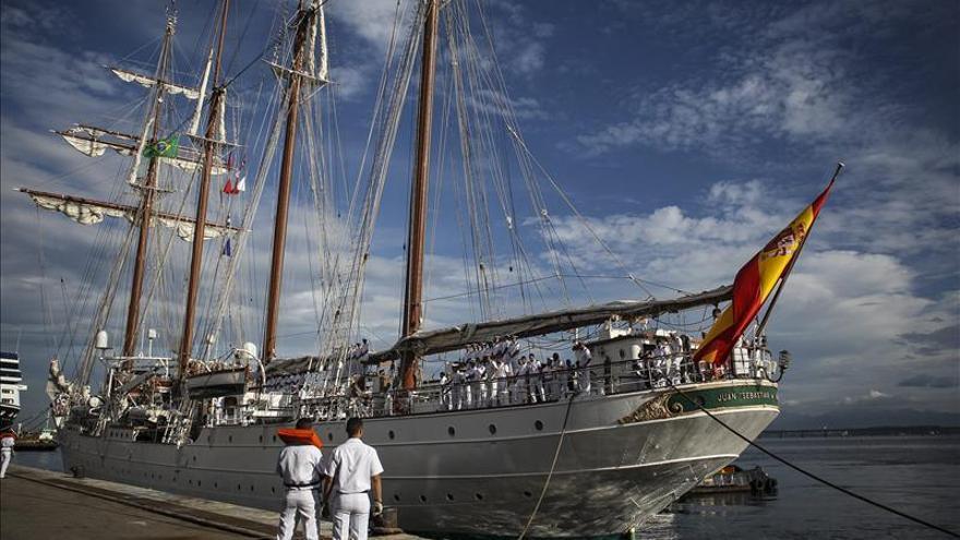 El buque escuela español llega a Río de Janeiro en su nuevo crucero de instrucción