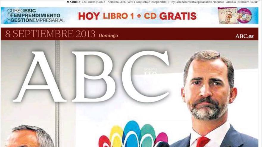 'Demasiado castigo'. La portada de ABC tras la derrota de Madrid 2020. Fuente: Kiosko.net