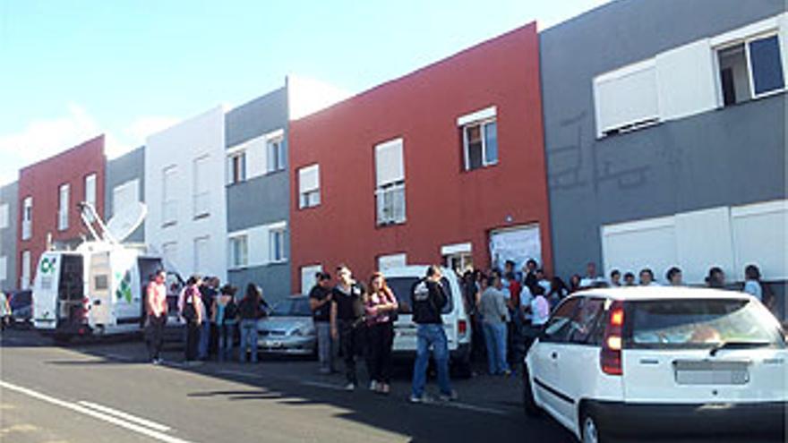 Concentración vecinal contra el desahucio de La Despensa. (CESR)