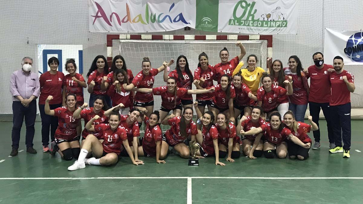 Integrantes del Deza CBM tras proclamarse campeonas de Andalucía