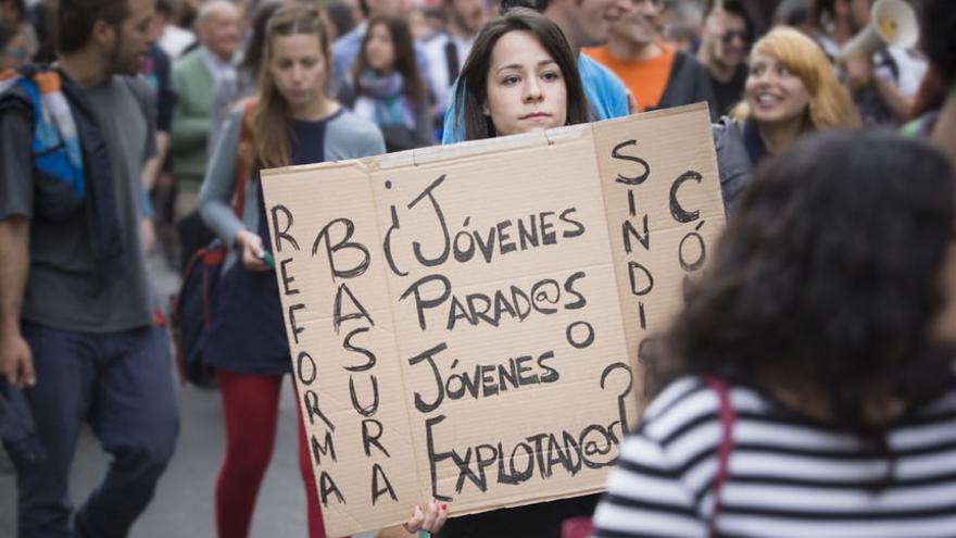 Manifestación contra la reforma laboral.