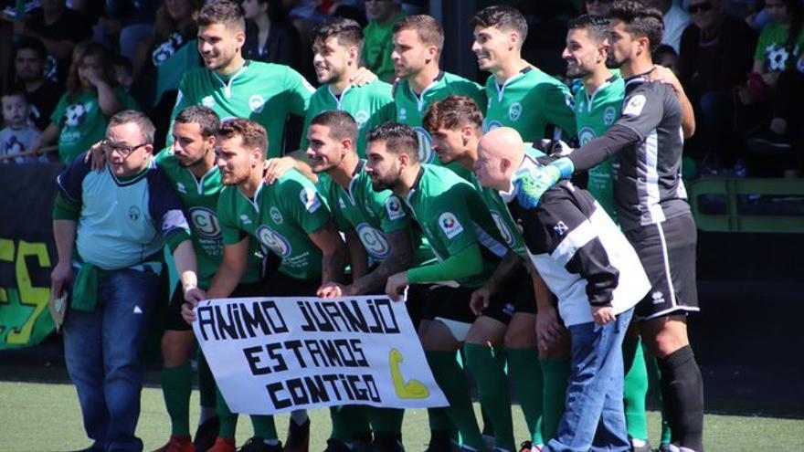 Formación del Atlético Paso en su encuentro ante el Marino.