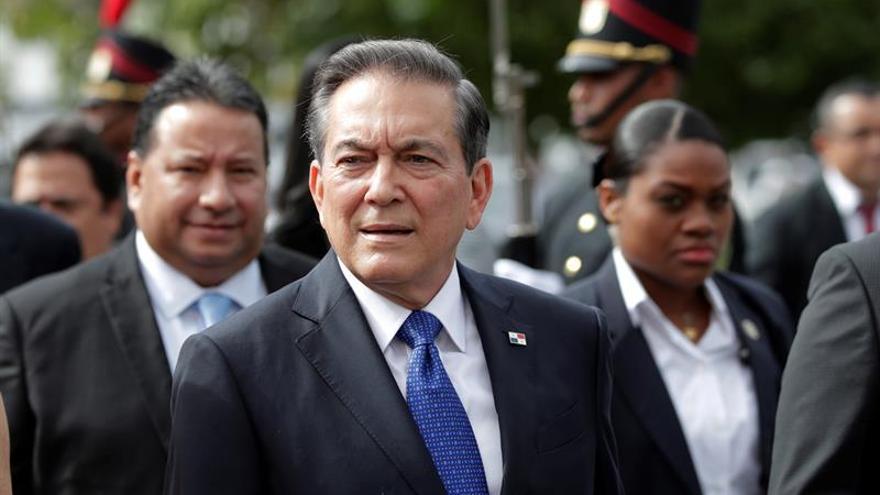 En la imagen, el presidente de Panamá, Laurentino Cortizo.
