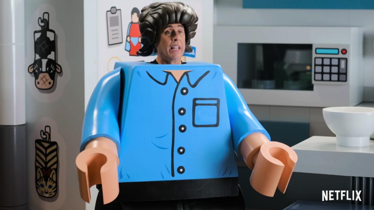 Jerry Seinfeld convertido en un muñeco de Lego