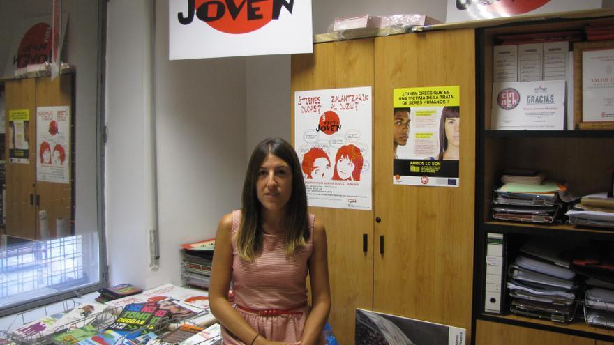 La responsable del Departamento de Juventud de UGT Navarra, Vanesa Jiménez.