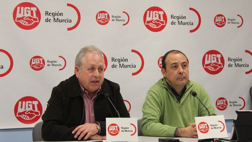 Antonio Jiménez y Carlos Bravo, máximos dirigentes de UGT y CCOO en la Región de Murcia / PSS