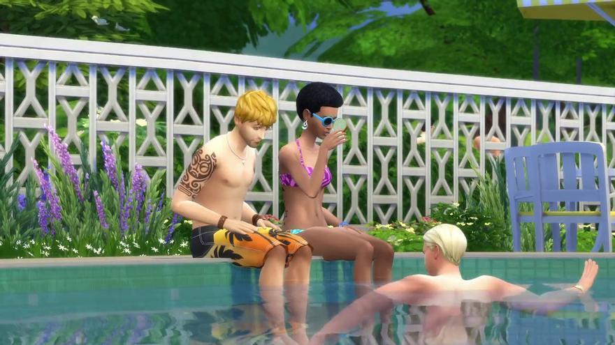 Los Sims 4 piscinas