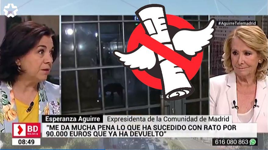 Esperanza Aguirre durante su entrevista en Buenos Días Madrid