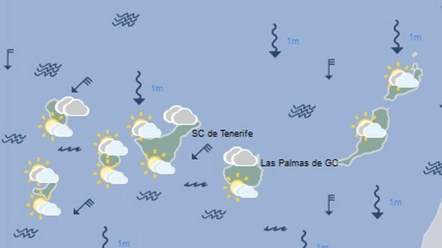 Mapa meteorológico para el jueves 7 de julio