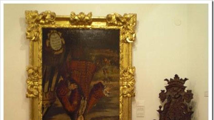 Xàtiva mantiene 'boca abajo' el cuadro de Felipe V, quien incendió la ciudad en 1707