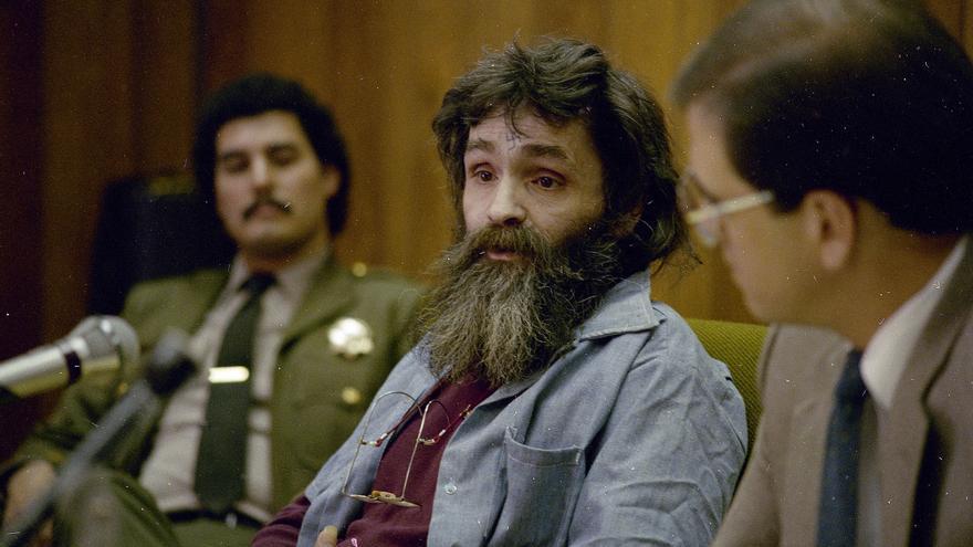 Charles Manson, en 1986 durante una vista para solicitar la libertad condicional / GTRESONLINE \ AP Photo