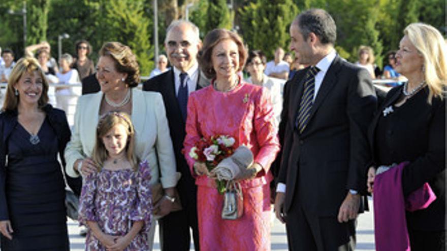 La Reina Sofía en una acto en Valencia junto a Rita Barberà y Francisco Camps