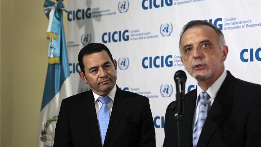 La CICIG está dispuesta a ayudar a Guatemala en la elección de los funcionarios de Jimmy Morales