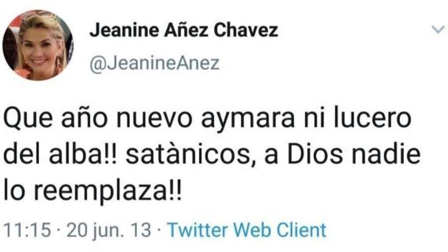 Tuit de Jeanine Áñez
