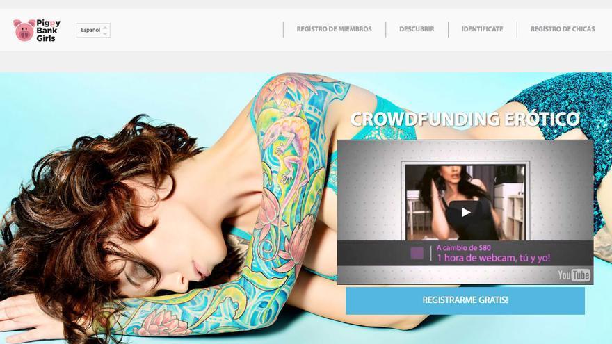 Piggy Bank Girls, una plataforma de 'crowdfunding' erótico