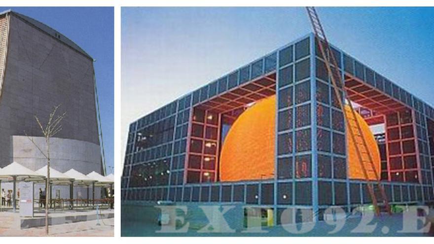 Tres pabellones emblemáticos: Japón, de los Descubrimientos y de Hungría. / LEGADO EXPO