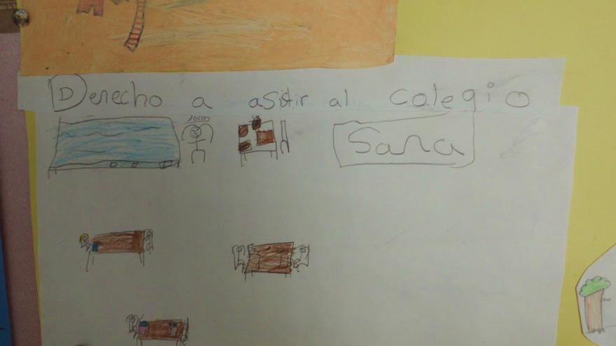 """""""Derecho a asistir al cole"""", por Sara, foto: Miriam Martín"""