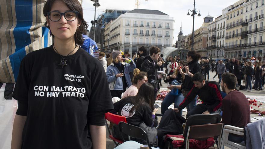 Mónica Rochel, una de las nuevas huelguistas de Sol